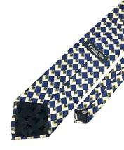 New Kenneth Cole New York Tie Navy Gold Silk Men's Neck Tie - $13.95
