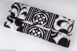 Vera Bradley Clutch Wallet B&W ID Window 6CC Slots Zip & Snap Pockets EU... - £10.89 GBP