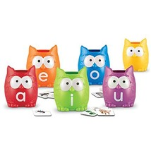 Learning Resources Vowel Owls Sorting Set, Word Recognition, Assorted Co... - $15.48