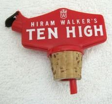 Vintage Barware Bar Bottle Decanter Stopper & Pourer Hiram Walker T109 - $12.38