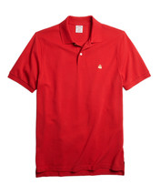 Brooks Brothers Mens Red Gold Orignal Performance Polo Shirt Large L $70 3682-3 - $55.53