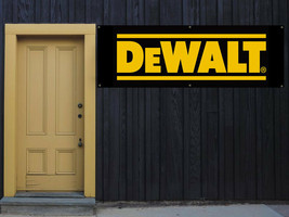 Dewalt power tools Vinyl Banner 2'x5' 13 OZ. Garage or any event  Ready to Hang image 1