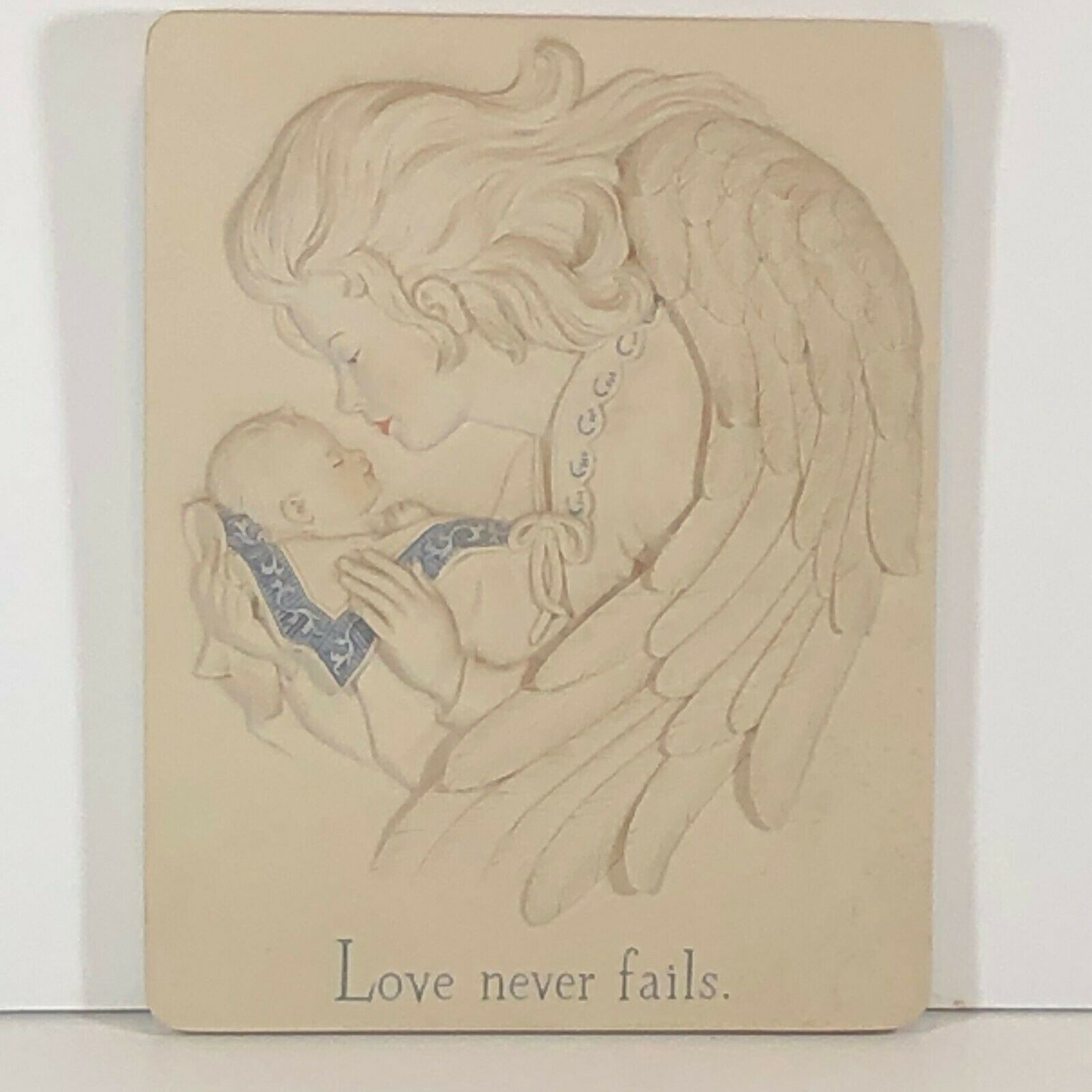 "Primary image for 'sarah's angels by Cheri Lane "" love never fails "" resin wall plaque"