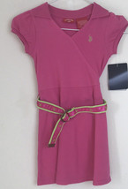 NWT Pink US Polo ASSN. Belted Polo Shirt Dress Childrens Size 5 - $14.95