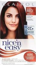 1 Clairol Nice 'n Easy Permanent Dye Born Red 4BG/113 Natural Dark Burgundy - $12.99