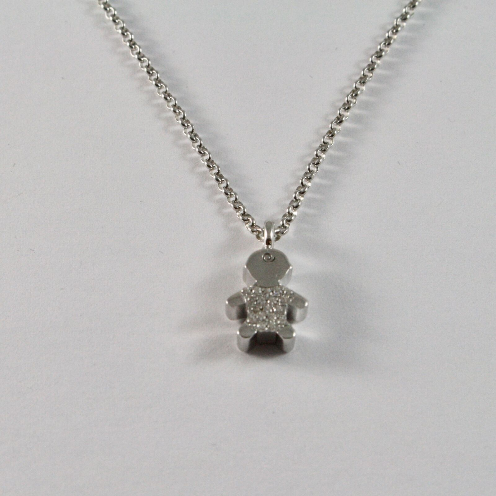 Silver Necklace 925 Jack&co with child with Zircon Cubic White JCN0616