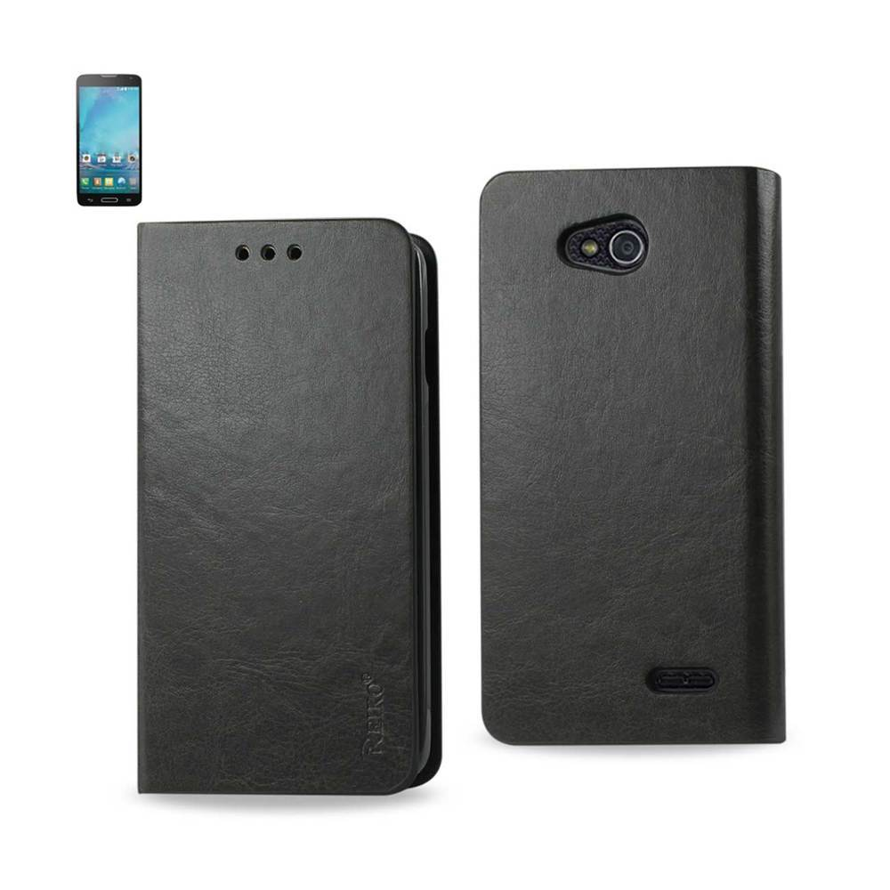 REIKO LG L90 FLIP FOLIO CASE WITH CARD HOLDER IN GRAY