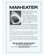 Blue Water White Death 1971 ORIGINAL Vintage 9x12 Industry Ad Great Whit... - $18.51