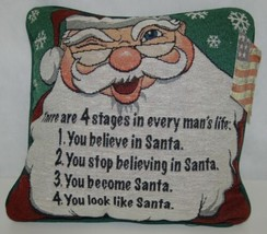 Manual Woodworkers Weavers TP4SML Pillow 4 Stages Every Mans Life Santa image 1