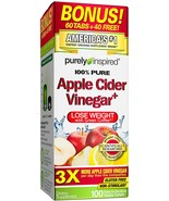 5 packs Purely Inspired Apple Cider Vinegar Capsules Weight Loss, Non St... - $24.99