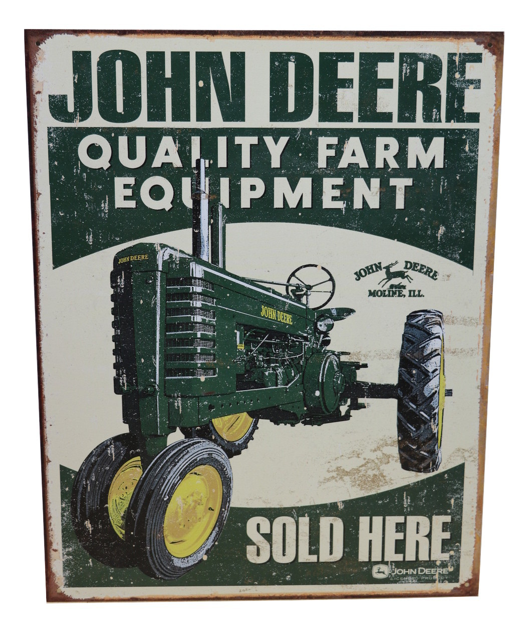 John Deere Farm Equipment Offical Metal Sign