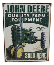 John Deere Farm Equipment Offical Metal Sign - $14.95