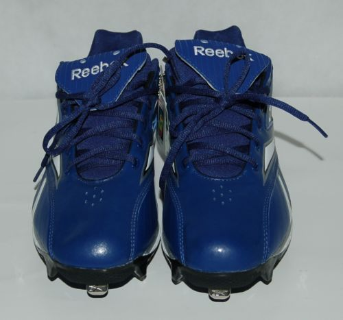 Reebok Hexride Blue Authentic Collection Baseball Cleats 9 and 1/2 Size
