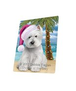 Summertime Happy Holidays Christmas West Highland White Terrier Dog on T... - $88.11