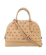 NEW COACH (F59344) SIERRA BEECHWOOD PERFORATED CROSSGRAIN LEATHER SATCHE... - $159.00