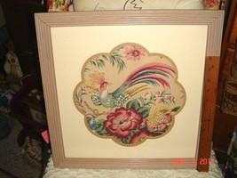 VTG HOLLYWOOD REGENCY FABRIC ART EGRET PICTURE POTTERY WALL POCKET VASE ... - $1,297.99