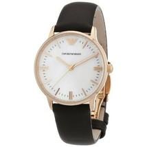 Emporio Armani AR1601 Rose Gold Ladies White Dial Watch - £84.41 GBP