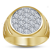 Mens Diamond Wedding Engagement Pinky Ring Gold Finish 925 Sterling Soli... - $98.99