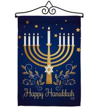 Happy Hanukkah - Impressions Decorative Metal Wall Hanger Garden Flag Se... - $27.97