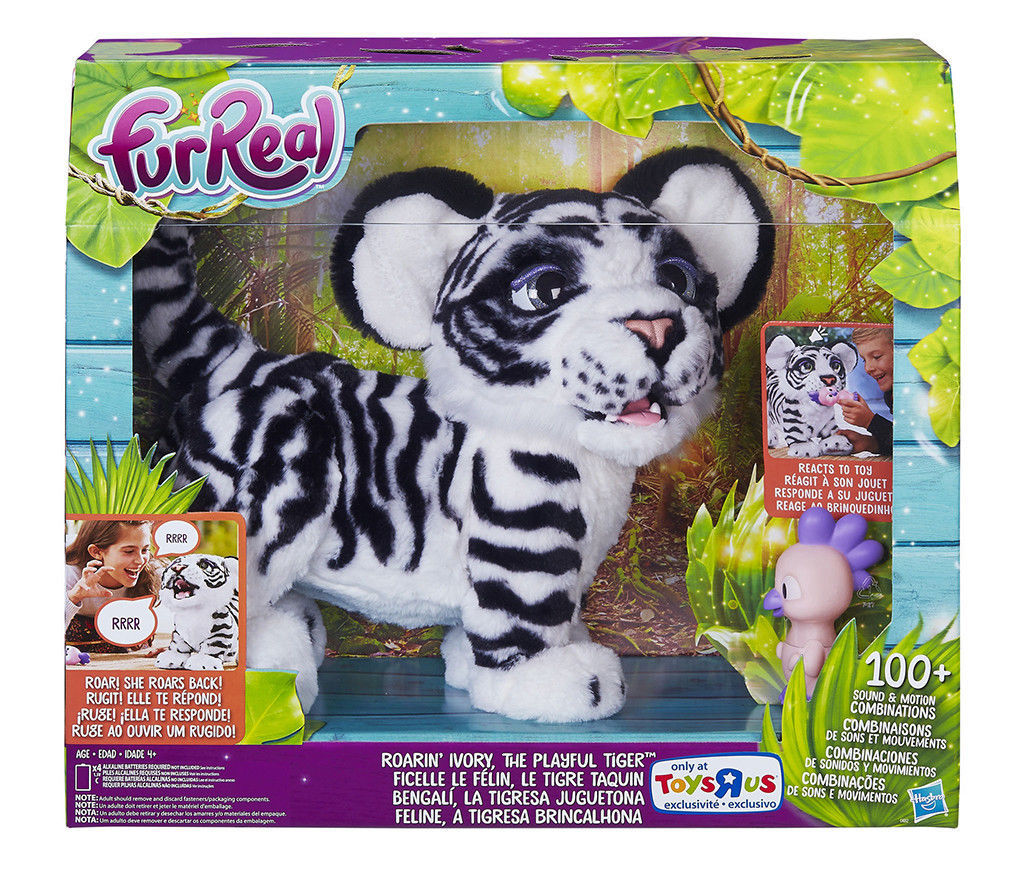 FurReal Roarin Ivory the Playful Tiger Interactive Pet White Toys R Us Exclusive
