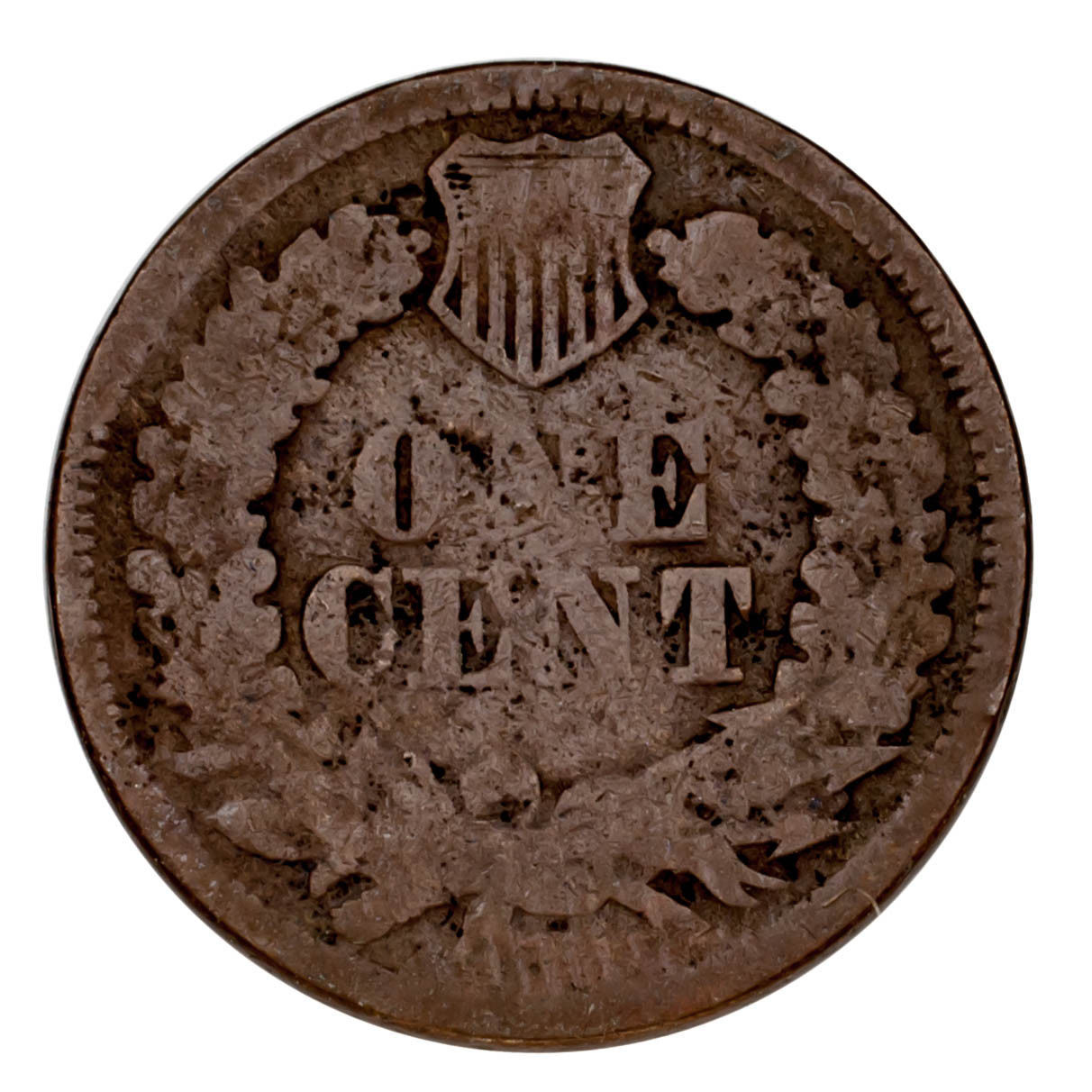 1868 Indian Head Cent 1C Penny (About Good, AG Condition)