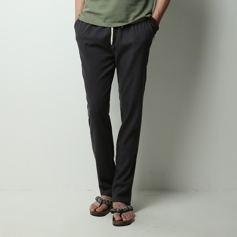 Men's Comfort Linen Casual Loose Pants image 7