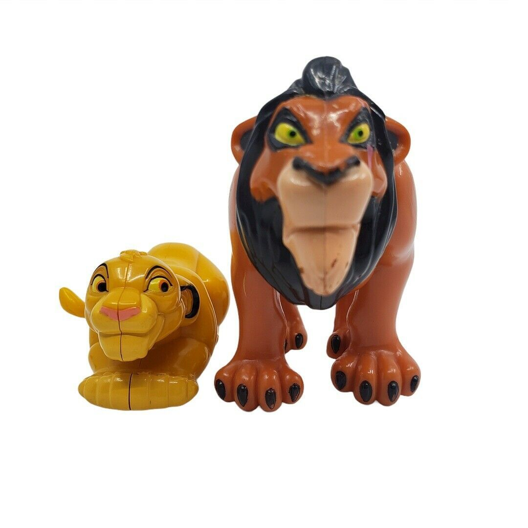 Disney The Lion King Mufasa And Simba Figures Lot Of 2 - $29.02