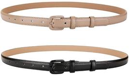 Vochic Trendy Women Leather Skinny Belts For Jeans Pants Thin Dress Wais... - $25.03