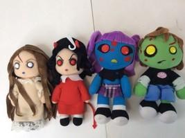 Mezco Living Dead Dolls Posey, Sin, Ophelia & Zach Horror Soft Plush Lot - $79.46