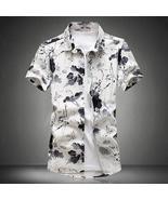 High Quality New 2017 Fashion Casual Men's Shirt Short Sleeve Flower Sli... - $45.42
