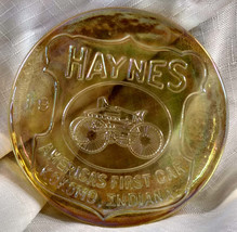 Haynes America's First Car Kokomo Indiana Glass Paperweight Antique Auto... - $17.75