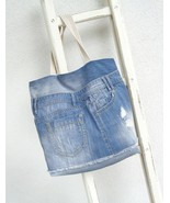 Stonewashed Denim Tote Bag - $63.00