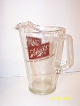 schlitz beer glass pitcher large size heavy - $24.74