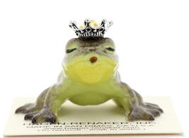 Hagen-Renaker Miniature Frog Prince Kissing Birthstone 11 November Topaz image 1