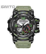 Gimto Men Dual Display Sports Watch 30m Water Resistant Date LED Wristwatch - $13.99
