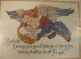Needle Treasures Angelic Tidings #02899 Counted Cross Stitch Kit Sealed 14x10  - $19.95