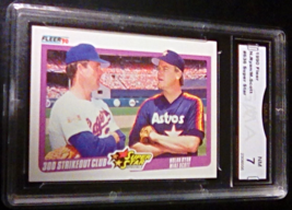 1990 Fleer Nolan Ryan/Mike Scott GMA Graded 7 NM Baseball Card 636 - $7.75