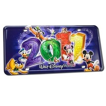 2011 Walt Disney World Resort License Plate Featuring Mickey Mouse, Donald Duck, - $28.66