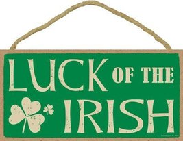 """Luck of the Irish 5"""" x 10"""" Wood Sign Plaque - $12.86"""
