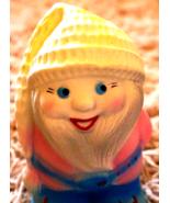 Vintage Soviet USSR Rubber Toy 1970 Santa Gnome Dwarf Elf Collectible Re... - $14.00