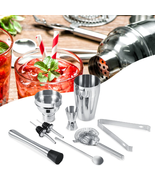 8Pcs 550ML Stainless Steel Cocktail Shaker Set Mixer Bar Drink Bartender... - $31.99