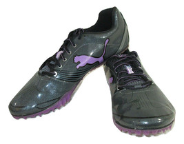 Puma Shoes Size 7.5 Athletic Complete Running Spikes Gray Purple Lace Up  - $12.86