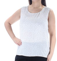TOMMY-HILFIGER Womens New Ivory-Beige-Polka-Dot-Sleeveless-Top-XL - $15.80