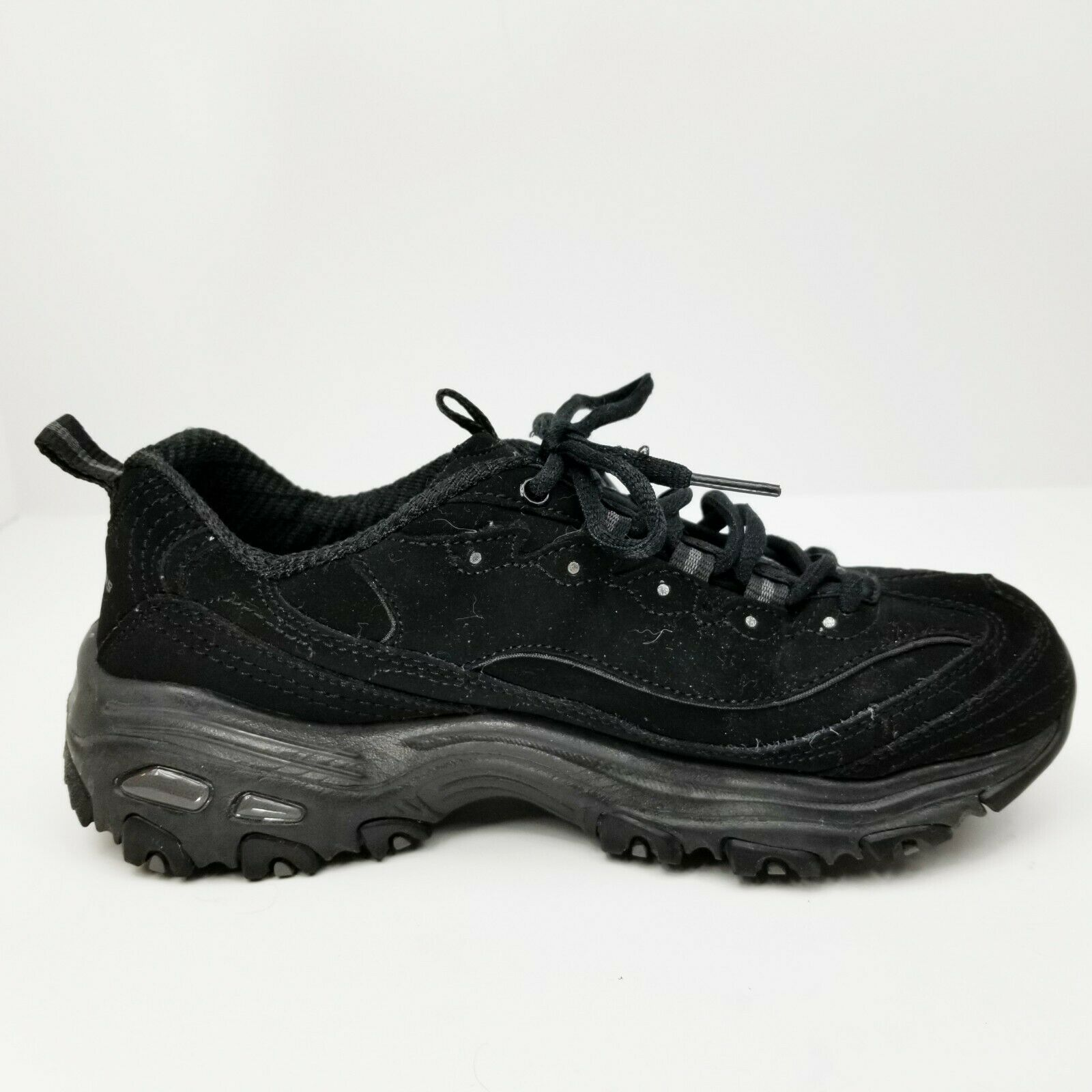 Skechers D'Lites Womens Shoes Size 6.5 M 11949 Memory Foam Air-Cooled Black EUC