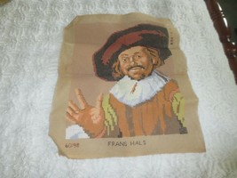 "Started HANS HAL, DUTCH PAINTER #60198 NEEDLEPOINT CANVAS - 16"" x 12 1/2... - $9.90"