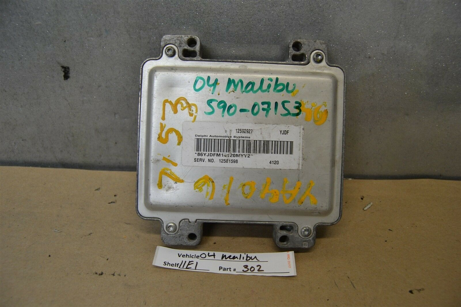 Primary image for 2004 Chevrolet Malibu 3.5L Engine Control Unit ECU 12581598 Module 02 11E1