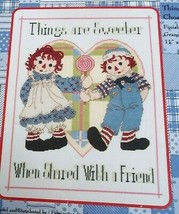 Classic Raggedy Ann Counted Cross Stitch Things Are Sweeter 77-106 NIP - $29.69