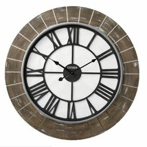 "Sleek Bricked Large 28"" Oversized Round Wall Clock, Modern By Citizen,Qu... - $84.13"