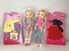 2007 Ty Girlz Happy Hillary Bubbly Brittany Posable Plush Dolls Clothes ... - $29.44