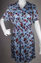 Calvin Klein Jeans women's flower dress button front short sleeve size M - $27.67